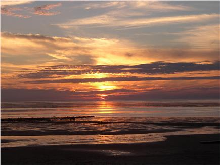 Brewster Cape Cod vacation rental - Sunset from bluff deck