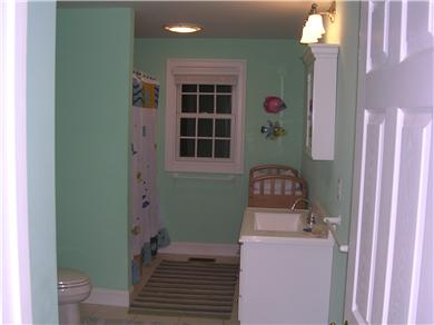 Mashpee, Popponesset Cape Cod vacation rental - Green bathroom.