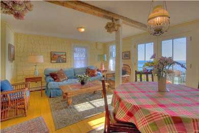 Provincetown Cape Cod vacation rental - Dining and living area