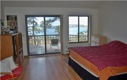 Wellfleet Cape Cod vacation rental - Bedroom #4: harbor views, king size / one twin bed with priv bath