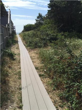 Dennisport Cape Cod vacation rental - Boardwalk to Birch Hill's private beach