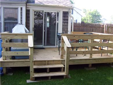 Hyannis Cape Cod vacation rental - Back Deck with Grill