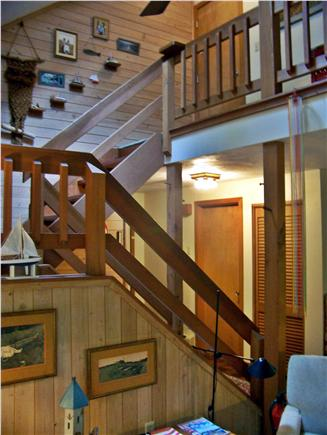 East Sandwich Cape Cod vacation rental - Stairway to master bedroom and loft creates spacious feeling