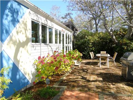Wellfleet Cape Cod vacation rental - Enjoy meals outside on front patio, with grill