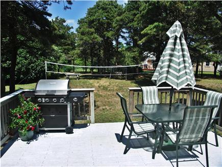 Eastham Cape Cod vacation rental - Large, sunny back yard and deck