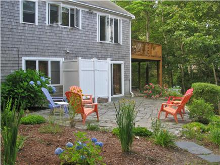 Brewster Cape Cod vacation rental - Exterior patio and shower, enjoy the pond scenery