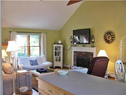 Brewster Cape Cod vacation rental - Family room, cathedral ceilings open and airy