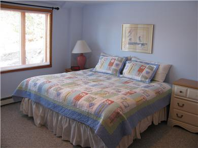Brewster Cape Cod vacation rental - Lower level large king bedroom, comfy, quiet, also has a twin bed