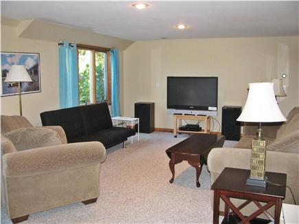 Brewster Cape Cod vacation rental - Lower level family room, kids LOVE this space, great pond views