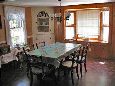 Brewster, north of 6A Cape Cod vacation rental - Dining area of eat-in kitchen