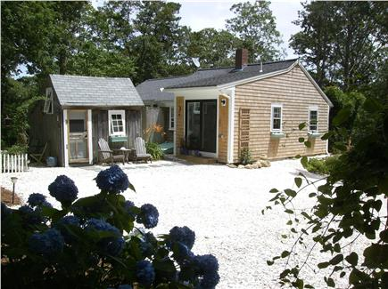 Barnstable Cape Cod vacation rental - View from the shell covered driveway.