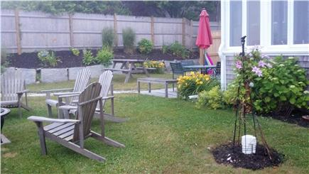Plymouth MA vacation rental - The Back Yard overlooking the Bluff