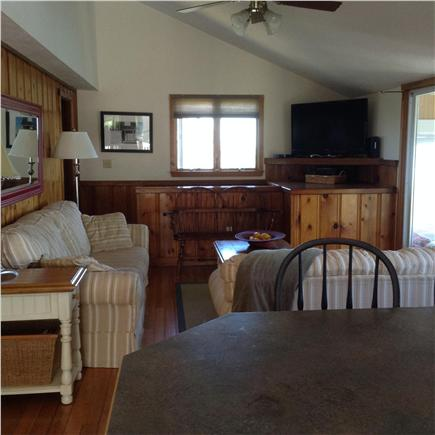 Plymouth MA vacation rental - Living area with sliders to sunroom