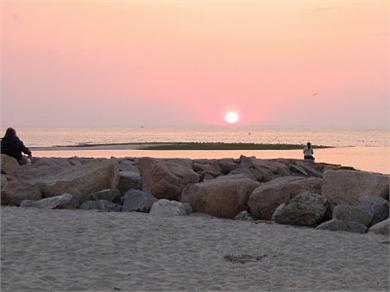 Brewster Cape Cod vacation rental - Sunset at nearby Paine's Creek bay beach