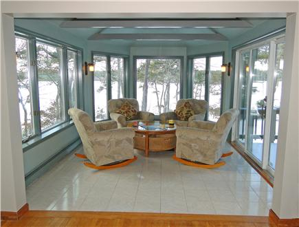 Brewster Cape Cod vacation rental - Newly painted Sunroom with slider to deck