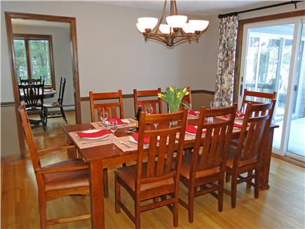 Brewster Cape Cod vacation rental - Enjoy meals in Dining Room w/ slider to deck, overlooking views