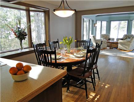 Brewster Cape Cod vacation rental - Eat-in Breakfast area adjacent to Sunroom