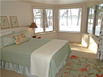 Brewster Cape Cod vacation rental - Lower level King BR with panoramic water views
