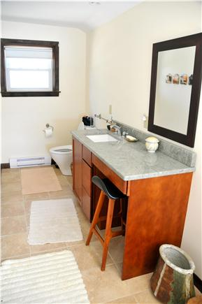 Wellfleet, south of town cente Cape Cod vacation rental - Bathroom for Bedroom #5, Tub, large shower,Cove view.
