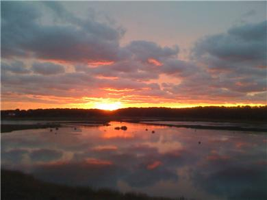 Wellfleet, south of town cente Cape Cod vacation rental - Beautiful Sunset view from the Main Deck (1st floor)