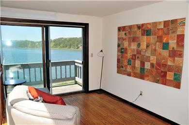 Wellfleet, south of town cente Cape Cod vacation rental - Entry Level Sitting Area with Cove View (2nd floor)