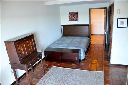 Wellfleet, south of town cente Cape Cod vacation rental - Bedroom #1(1st floor) Queen bed, deck, Quiet Heat Pump A/C