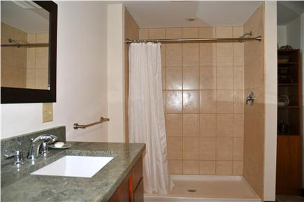 Wellfleet, south of town cente Cape Cod vacation rental - Bathroom for Bedroom #1, large shower, garden view.