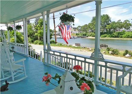 Onset on Water Street Inlet MA vacation rental - Big Furnished Porch w/ Views to Bridge, Village, Harbor & Beach