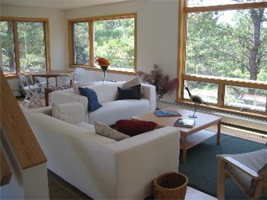 So.Wellfleet Cape Cod vacation rental - Living room area, game table in rear