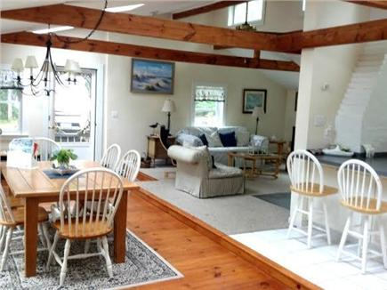 Harwich Cape Cod vacation rental - Open concept, dining room facing the lake