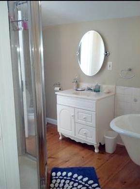 Harwich Cape Cod vacation rental - Bathroom with walk-in shower and clawfoot tub