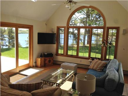 Brewster Cape Cod vacation rental - Den w/ cathedral ceiling, skylights & access to deck