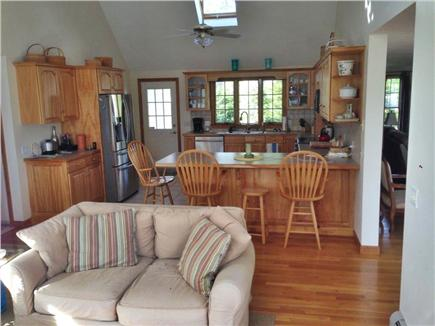 Brewster Cape Cod vacation rental - Open kitchen and den area