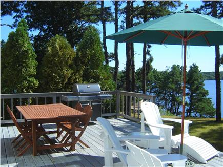 Brewster Cape Cod vacation rental - Main deck with table, grill, and beautiful water views