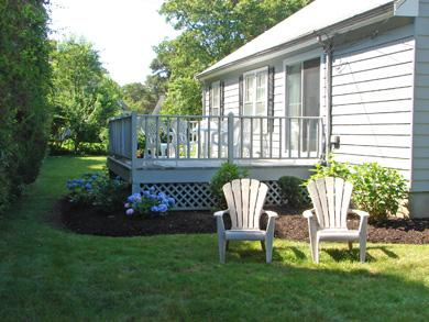 Dennis Cape Cod vacation rental - Spacious deck overlooking lovely yard