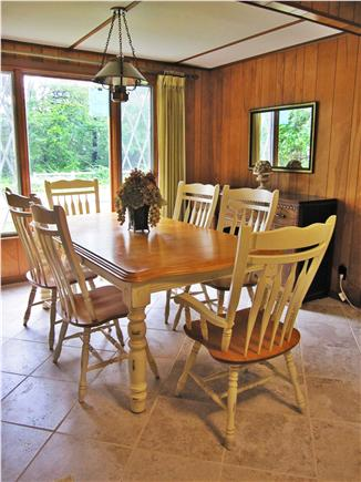 Dennis Cape Cod vacation rental - Enoy your meals inside in dining room or out on deck