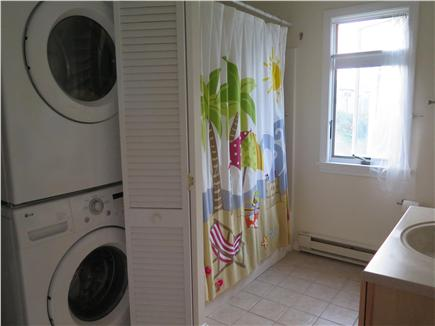 Beach Point, North Truro Cape Cod vacation rental - Full bath: full size washer/dryer and shower/tub