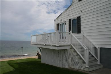 Plymouth, Priscilla Beach MA vacation rental - Deck with table & chairs...the perfect spot for breakfast.