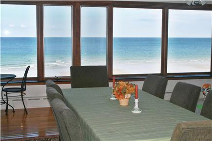 Plymouth, Priscilla Beach MA vacation rental - Dining room/great room with seating for 8 and wall-to-wall views!