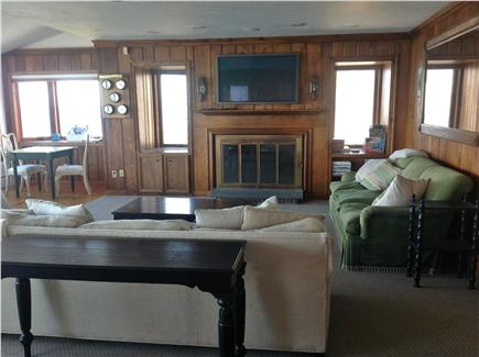 Plymouth, Priscilla Beach MA vacation rental - Beautiful fireplaced living room with large flat screen tv