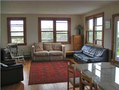 Wellfleet, Oceanfront Nat'l Seashore dune Cape Cod vacation rental - Living room/ Kitchen
