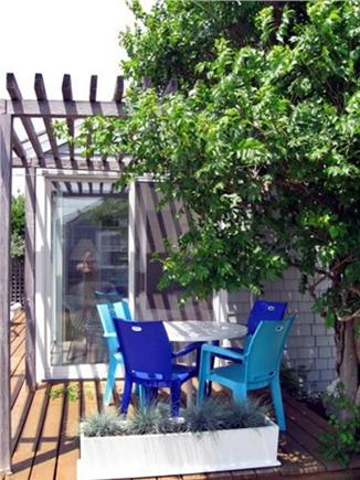 Wellfleet Cape Cod vacation rental - Enjoy your morning coffee on the deck