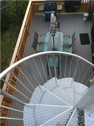 Wellfleet Cape Cod vacation rental - Main level deck from roof deck