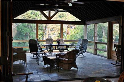North Eastham Cape Cod vacation rental - Huge Screened Porch opens to living room