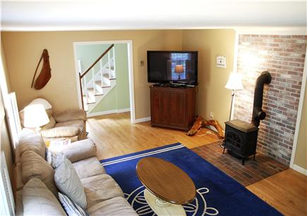 Brewster Cape Cod vacation rental - Living Room With 50'' Plasma and Recliner
