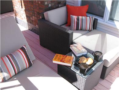 Kingston MA vacation rental - Top Gun relaxing on your Top Deck!