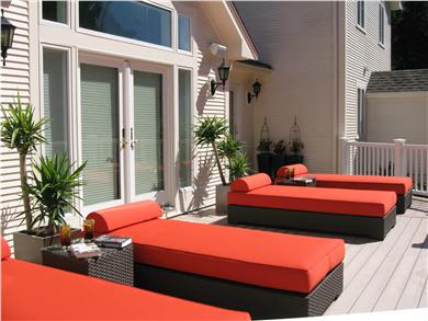 Kingston MA vacation rental - Your Back Deck, Day Beds!
