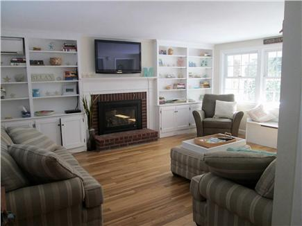 South Yarmouth Cape Cod vacation rental - Spacious living room with 42'' flat screen tv & gas fireplace.