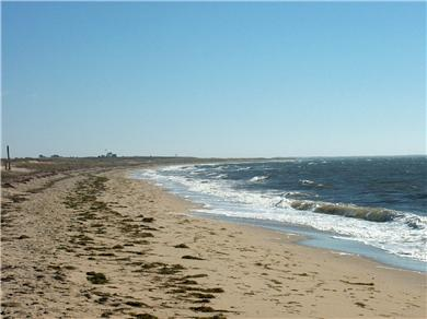Chatham Cape Cod vacation rental - Hardings Beach with Stage Harbor Light House in distance
