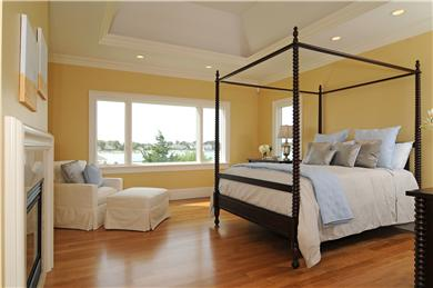 West Yarmouth Cape Cod vacation rental - Master Bedroom with fireplace